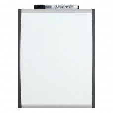 Quartet Dry Erase Board, 8.5 x 11 Inches, Magnetic Whiteboard, Black/Silver Frame (79366)