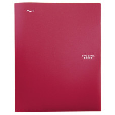 Five Star Stay-Put Pocket Folder, 11.62 x 9.31 x .25 Inches, Red (72109)