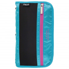 Five Star Pencil Pouch, Pen Case, Fits 3 Ring Binders, Xpanz, Teal/Pink (50206CN8)