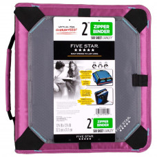 Five Star Zipper Binder with Expansion Panel, 3 Ring Binder, 2 Inch, Purple (73297)