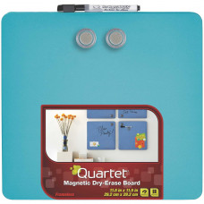 Quartet Magnetic Dry-Erase Boards, Tin Square, 11.5 x 11.5 Inches, Blue (TSQ1212-BUS)